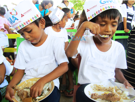 Hanabishi joins another one of GMA Kapuso Foundation's projects, the Feed-A-Child
