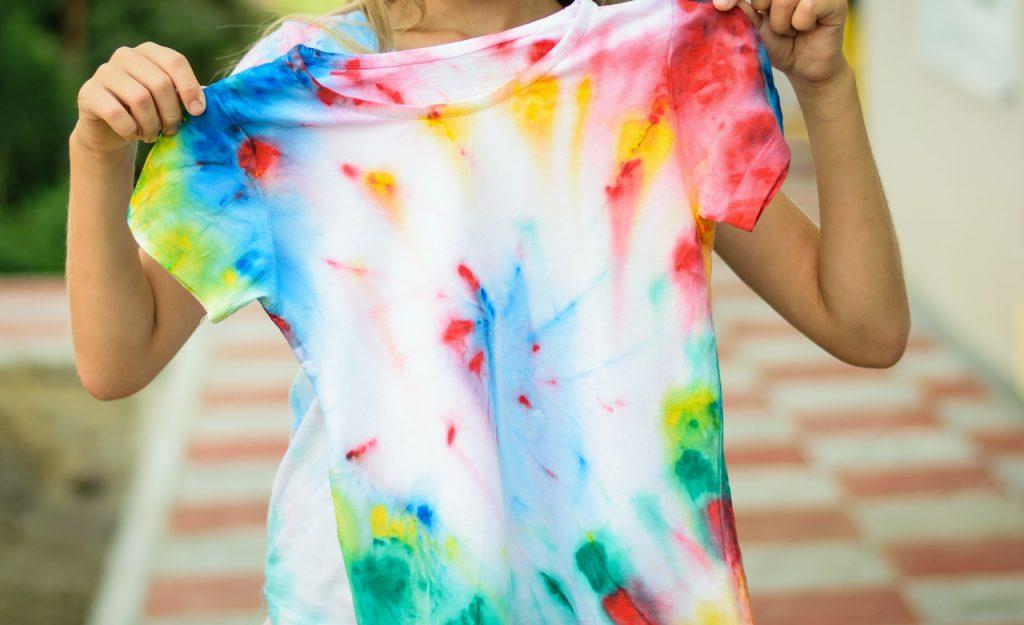 A tie-dye shirt